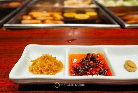 △从左到右依次是:南姜末、辣椒酱、黄芥末