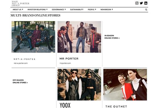历峰集团将100%控股奢侈品电商Yoox Net