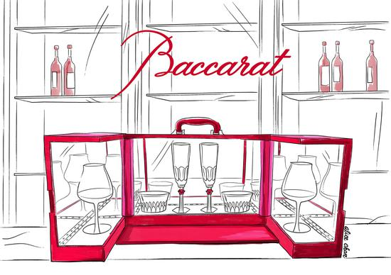 Baccarat中国限定My B Bar水晶杯组情人节礼盒
