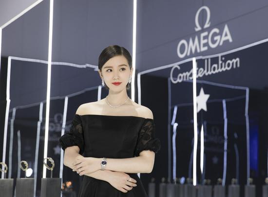 刘诗诗出席欧米茄致敬星座系列女士腕表尊享晚宴