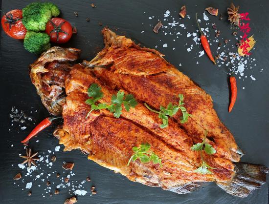 怡景餐厅烤虹鳟鱼