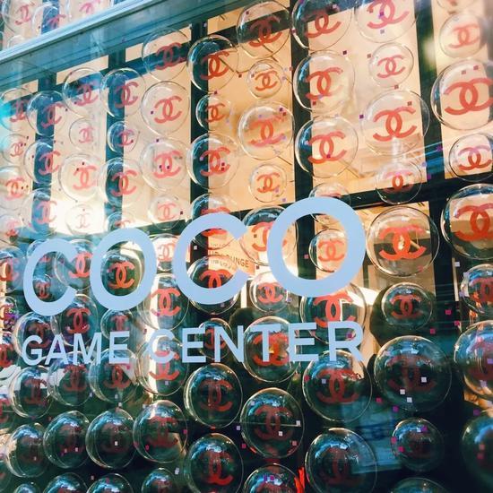 香奈儿游戏厅玻璃墙