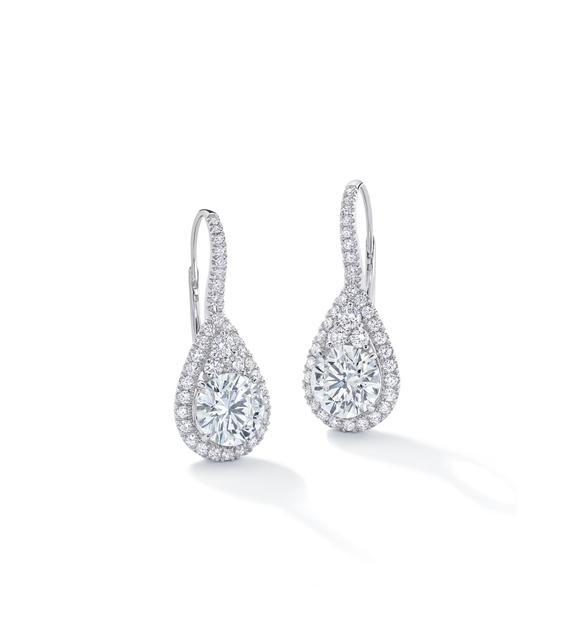 orevermark红毯系列美钻耳环18K白金镶12.5克拉钻石