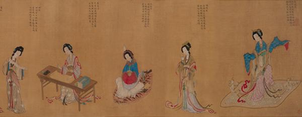 中国国家博物馆内所藏清代藏品仿仇英《千秋绝艳图》卷