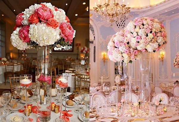 玻璃花瓶+花球