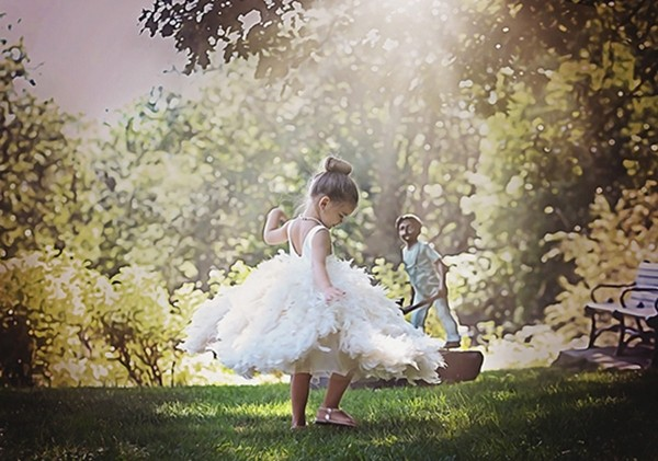 Shabby Chic Tutus Flower Girl Dress