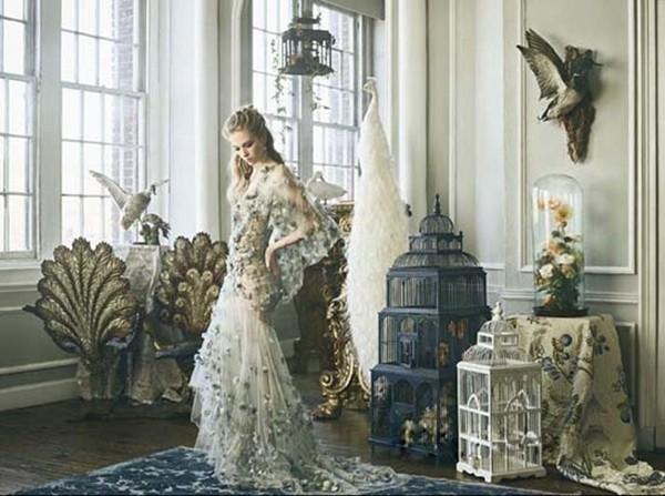 公主气息浓厚的婚纱