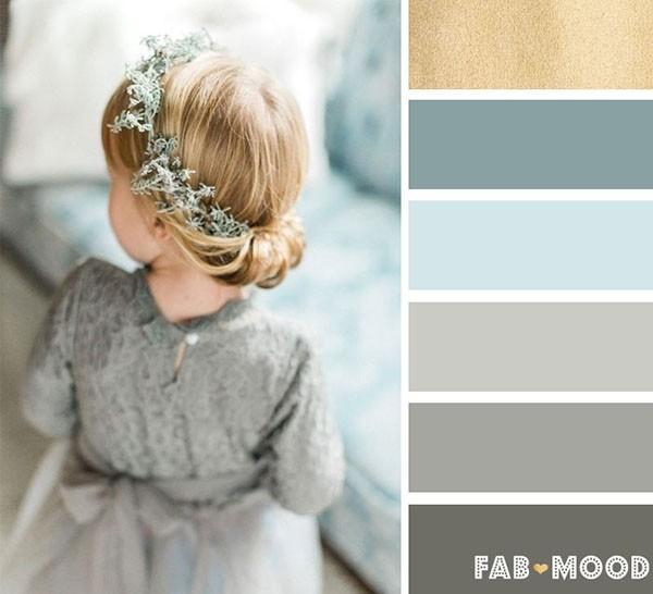 灰色+灰蓝+金色