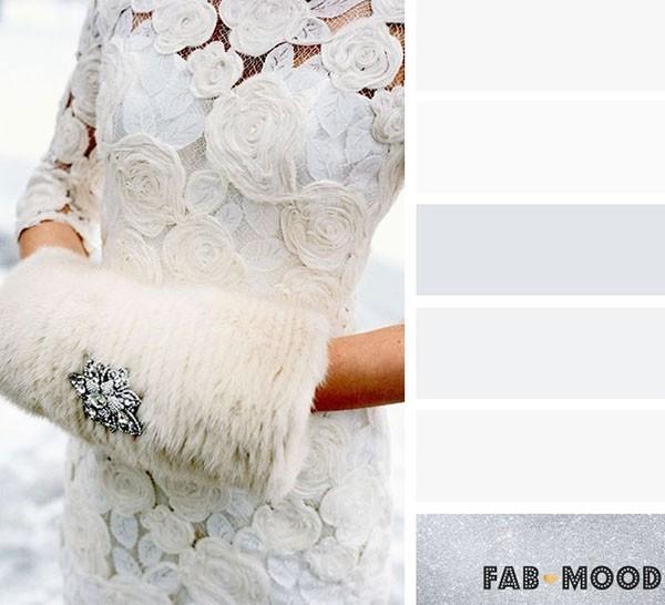 银色+白色