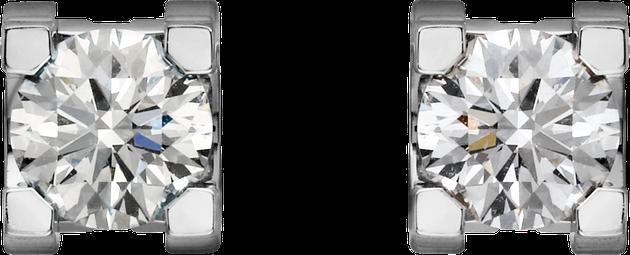 卡地亚C de Cartier系列钻石耳环