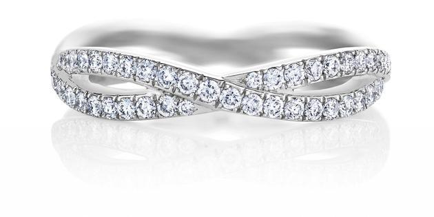 De Beers戴比尔斯Infinity全密镶白金钻石戒环