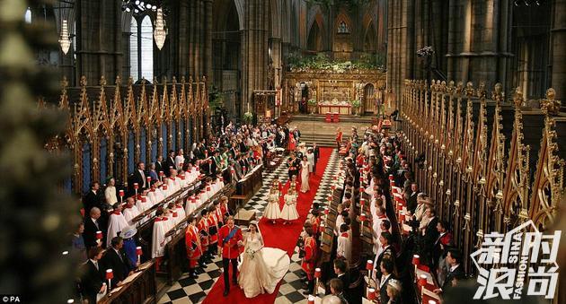 威廉凯特婚礼在威斯敏斯特大教堂举行