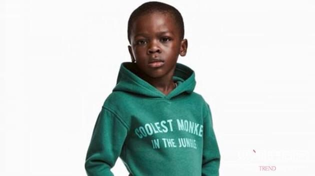 H&M为黑人小模特猴子字样卫衣广告图片道歉