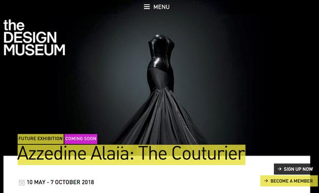 伦敦设计博物馆将为Azzedine Alaia举办回顾展
