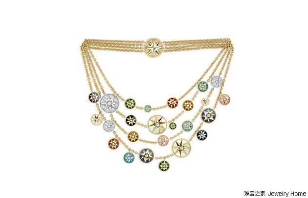 Dior迪奥ROSE DES VENTS系列项链