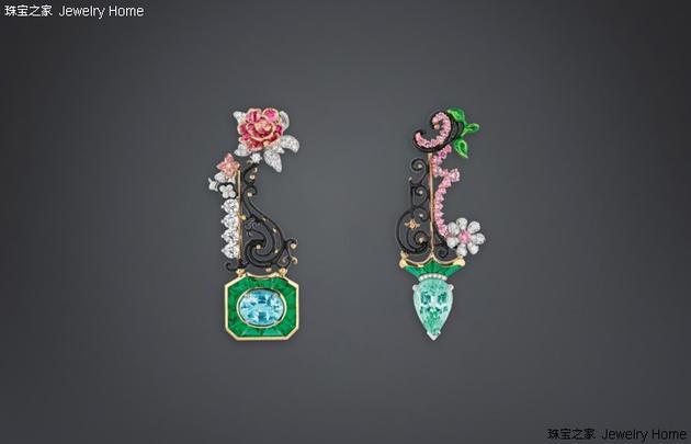 Dior 迪奥 DIOR à VERSAILLES, C?Té JARDINS系列 BOSQUET DE LA REINE TOURMALINE PARA?BA 耳环
