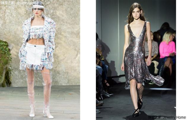 左:Chanel 香奈儿2018年春夏成衣系列、右:Paco Rabanne 2018年春夏成衣系列