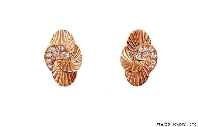 Cartier 卡地亚 PARIS NOUVELLE VAGUE系列 18K玫瑰金钻石耳环