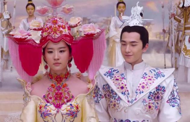 电影《三生三世》刘亦菲大婚造型