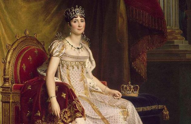 约瑟夫皇后佩戴CHAUMET冠冕