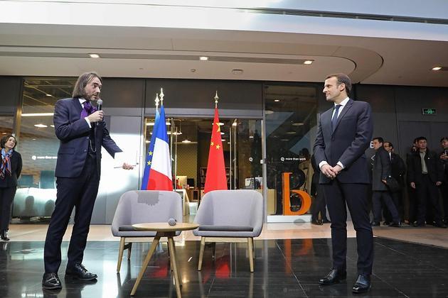 法国总统马克龙访华团成员