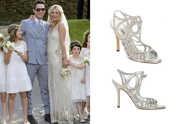 Kate Moss结婚时婚鞋也是Manolo Blahnik