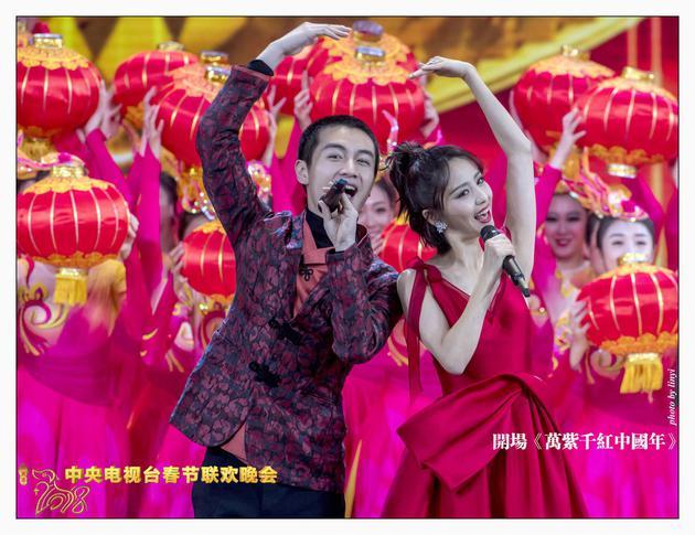 佟丽娅与陈晓登上央视春晚