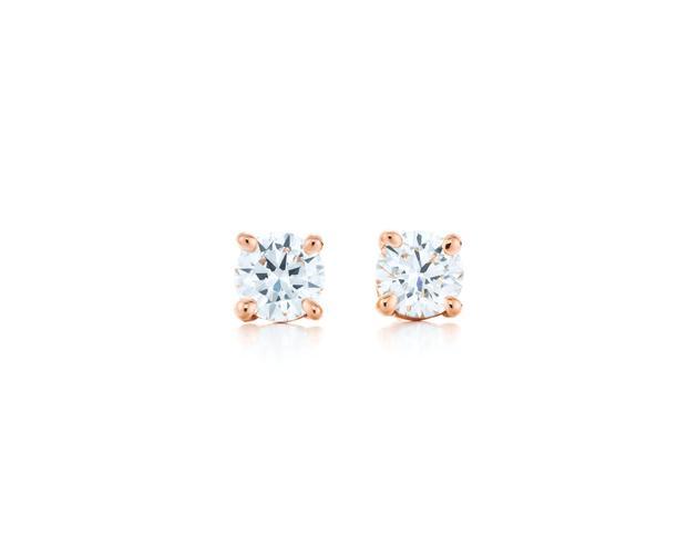 (相似款)Tiffany & Co. 蒂芙尼18K玫瑰金镶钻耳钉