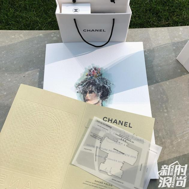 Chanel 2018春夏高级定制系列大秀邀请函