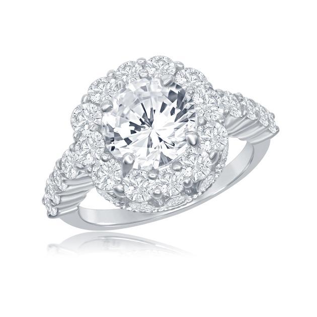 Forevermark Integré Opulence美钻戒指18K白金,钻石3.65克拉