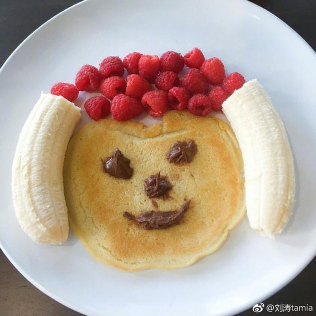 刘涛自制狗年营养早餐