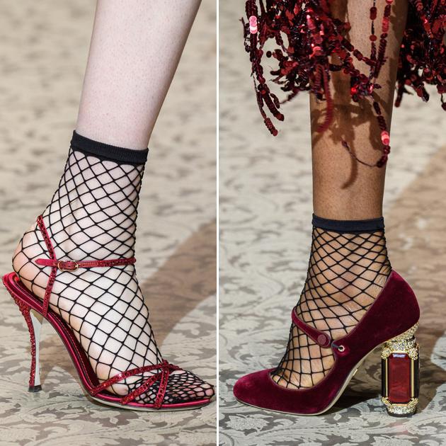 Dolce & Gabbana渔网袜