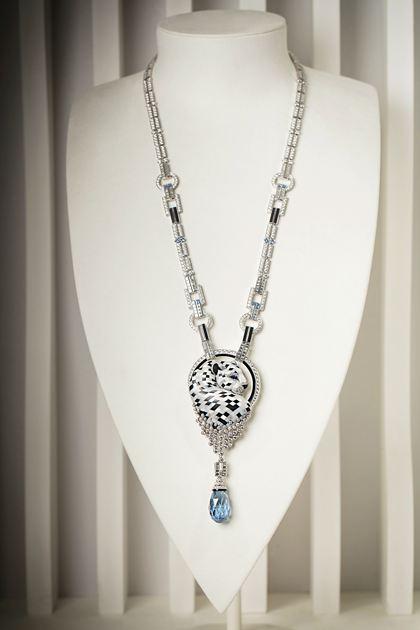 卡地亚猎豹高级珠宝系列项链