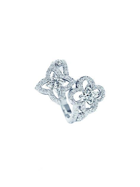 路易威登Blossom Les Ardentes 白金镶钻戒指