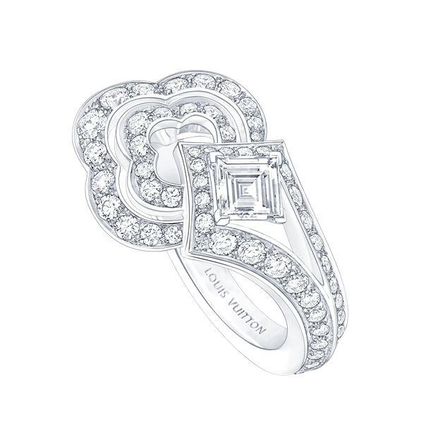 路易威登Blossom白金镶钻戒指