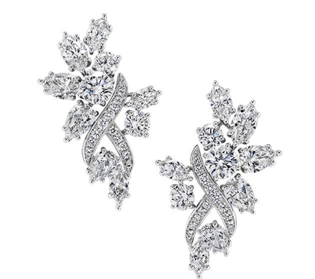海瑞温斯顿绮隐Secret Cluster高级珠宝系列钻石耳环