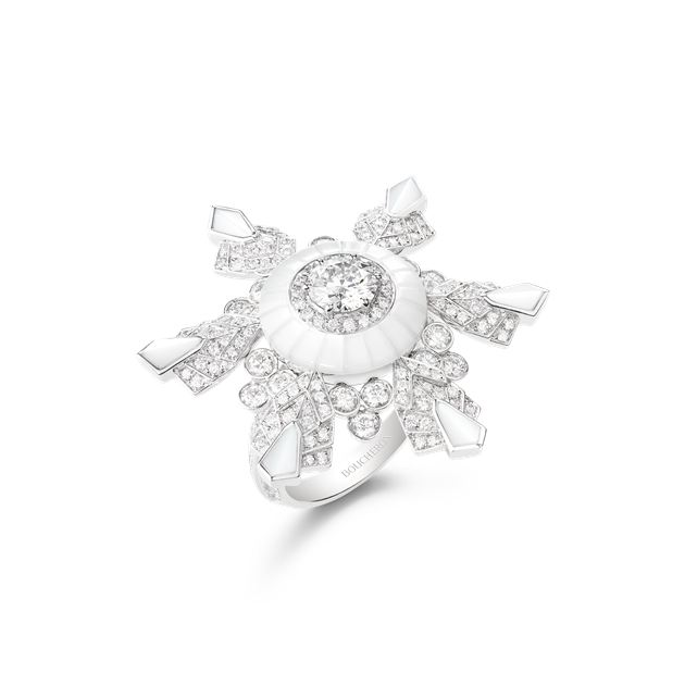 Boucheron宝诗龙 Lumière de Nuit极夜之光系列Flocon戒指