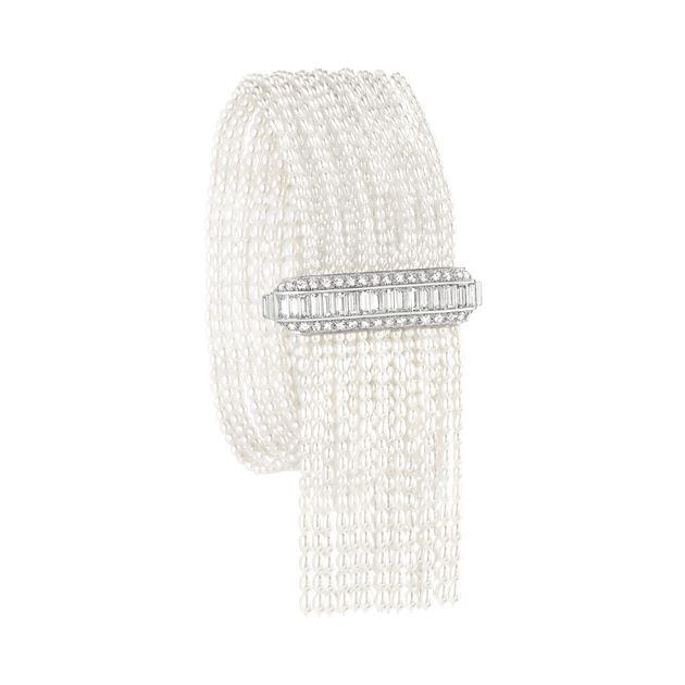 Boucheron宝诗龙 Femmes Boréales极地美人系列Perles Australes白金手链