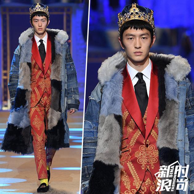 金大川为Dolce & Gabbana走秀