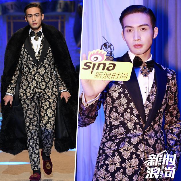 张彬彬为Dolce & Gabbana走秀
