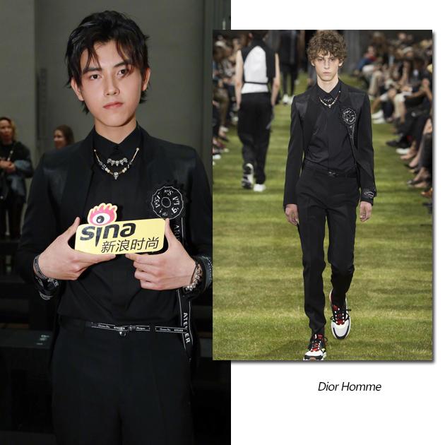陈飞宇助阵Dior Homme大秀