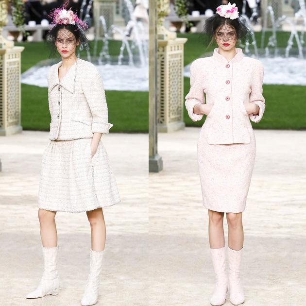 Chanel 2018春夏高级定制系列的软呢套装