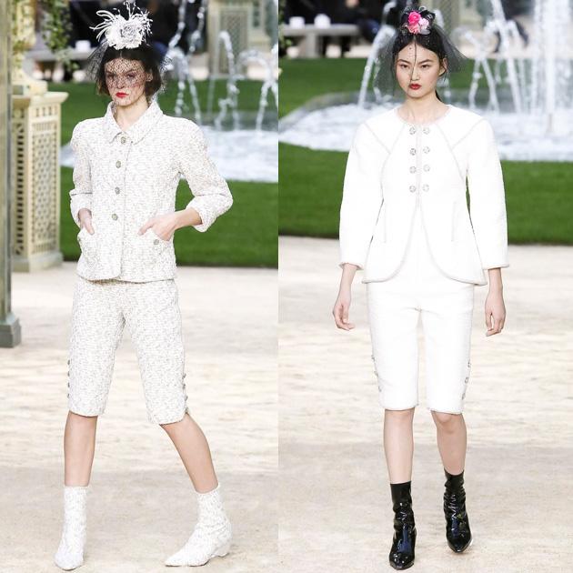 Chanel 2018春夏高级定制系列的裙裤搭配