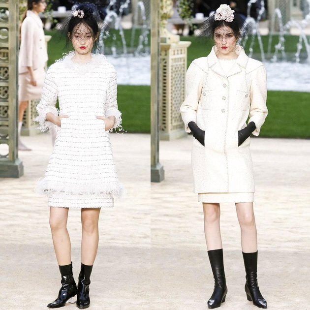 Chanel 2018春夏高级定制系列的滚边口袋