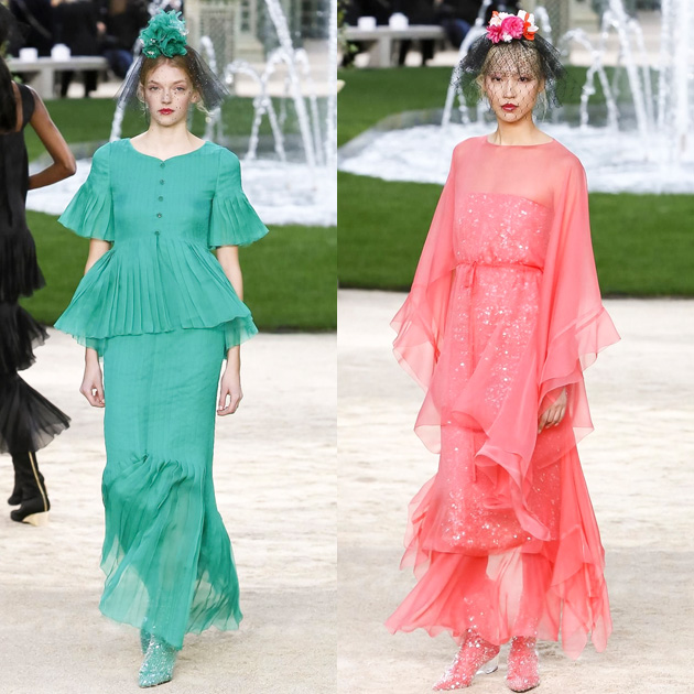 Chanel 2018春夏高级定制系列绚丽的配色