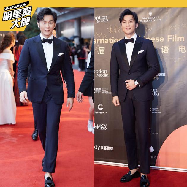 李晨穿西装造型演绎优雅绅士