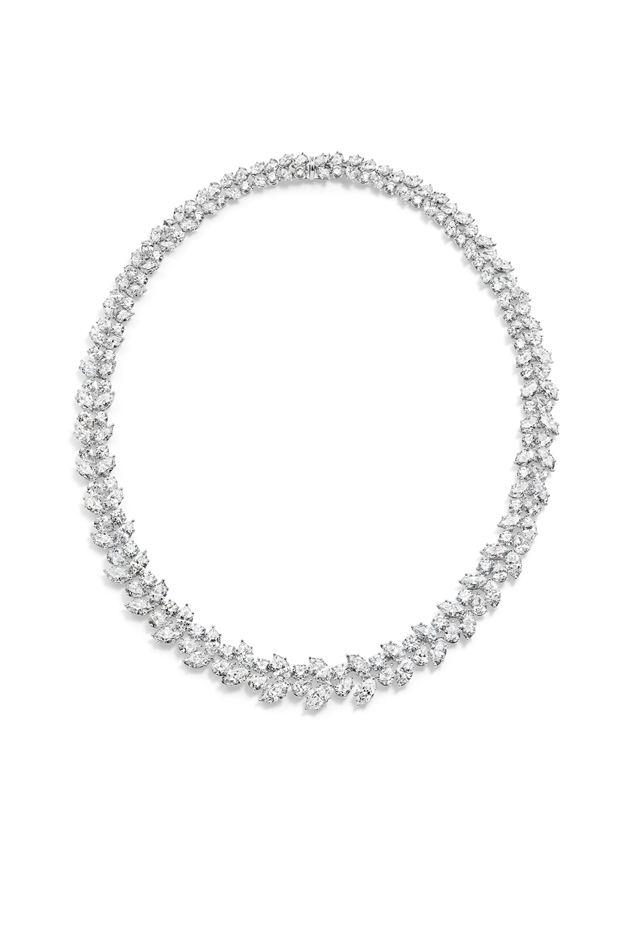 海瑞温斯顿经典锦簇Winston Cluster系列Wreath锦簇花环钻石项链