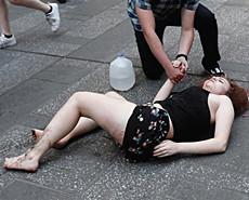纽约时代广场惊现驾车撞人 1死23伤