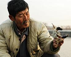 63岁独臂男自强养蟹-10度室外住窝棚
