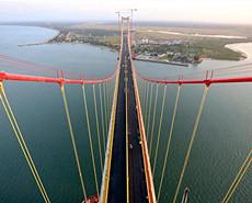中国制造:非洲主跨径最大悬索桥将通车